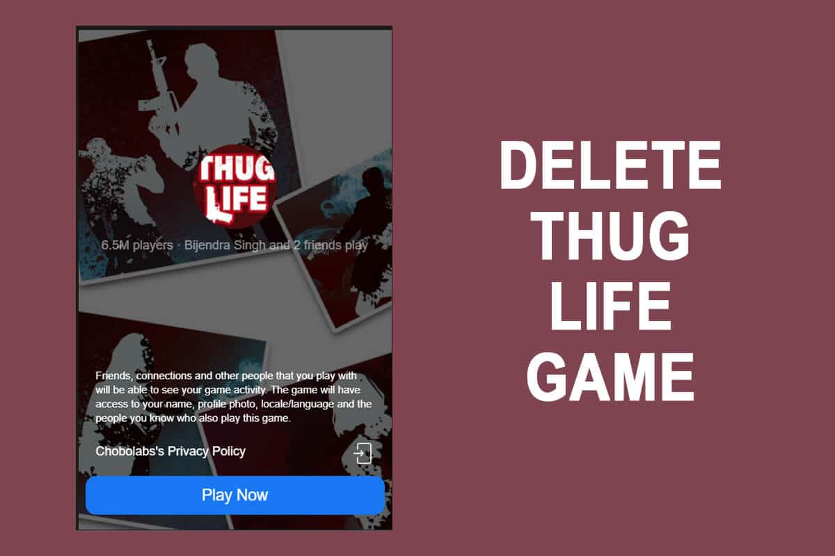 How to delete Thug life game from Facebook messenger