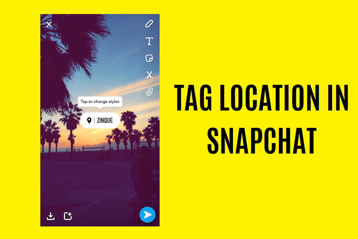 How to tag a location in Snapchat
