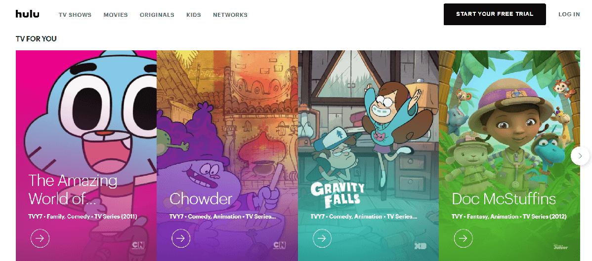 Hulu Cartoons