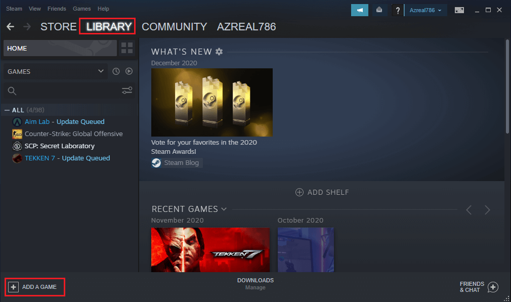 In the Menu, click on 'Add a non-steam game to my library'.   Check FPS in games
