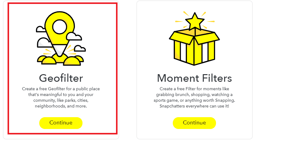 In the community filter section, you have to click open the 'Geofilter.'