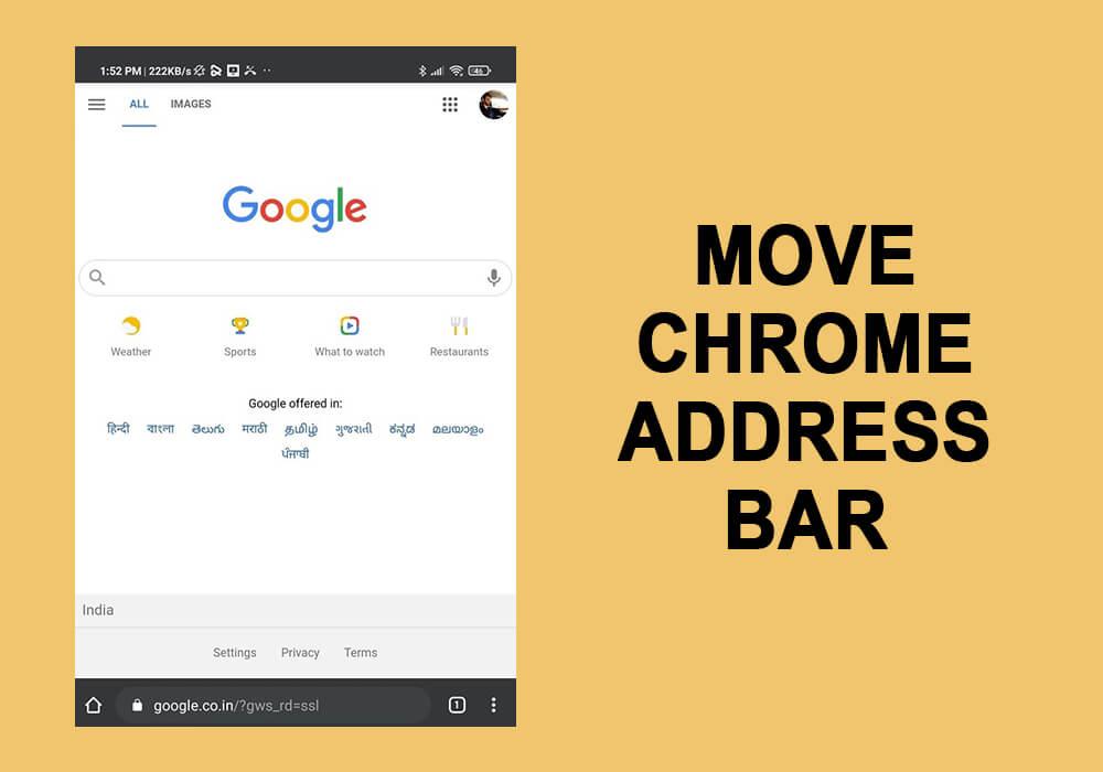 Move chrome Address Bar