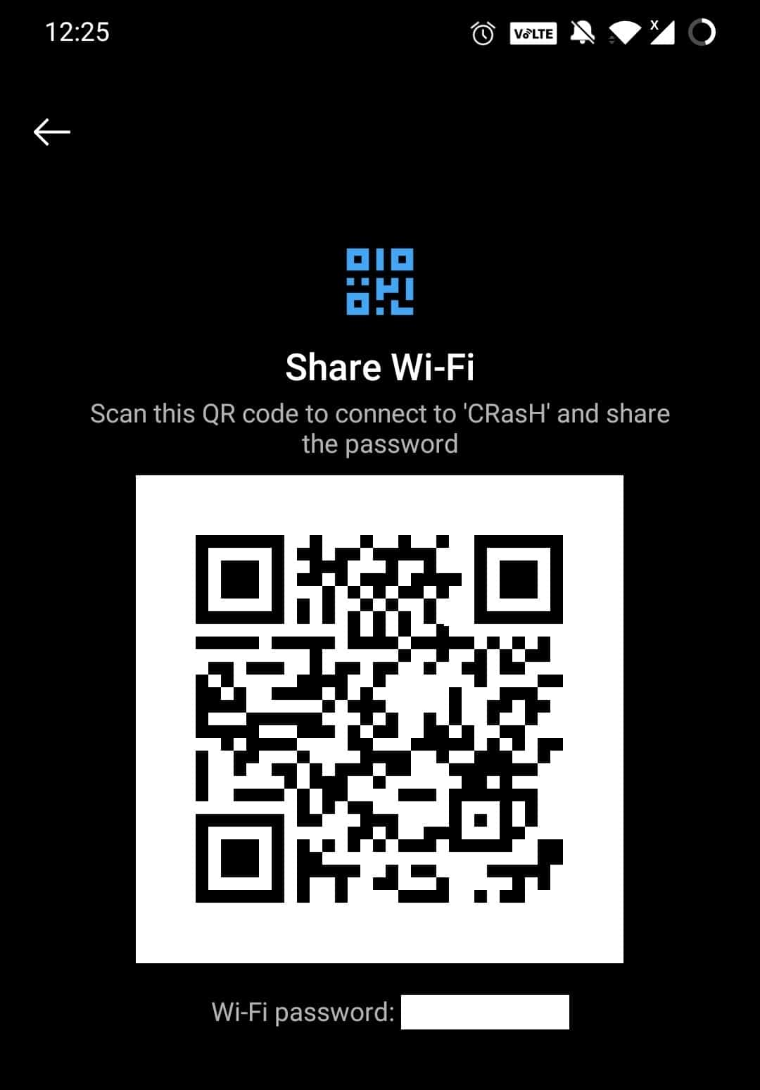 Once verified, you will receive a QR code on the screen