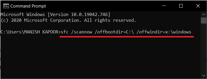 Run the following command   How to Repair or Fix a Corrupt Hard Drive Using CMD?