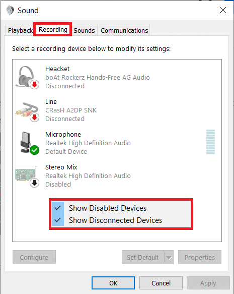 Show Disabled Devices & Show Disconnected Devices | Enable Stereo Mix on Windows 10