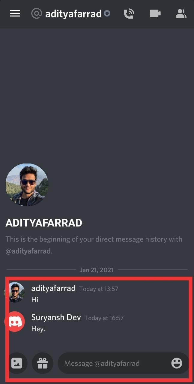 Tap the 'Direct Message' option | Delete All Messages in Discord