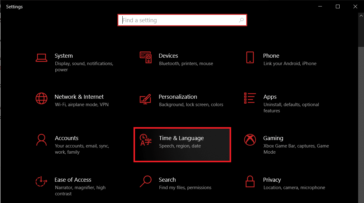 Time & Language.   How To Reset Your Keyboard To Default Settings In Windows 10?
