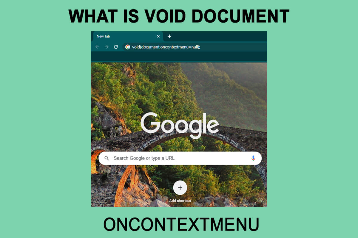 What Is Void Document Oncontextmenu