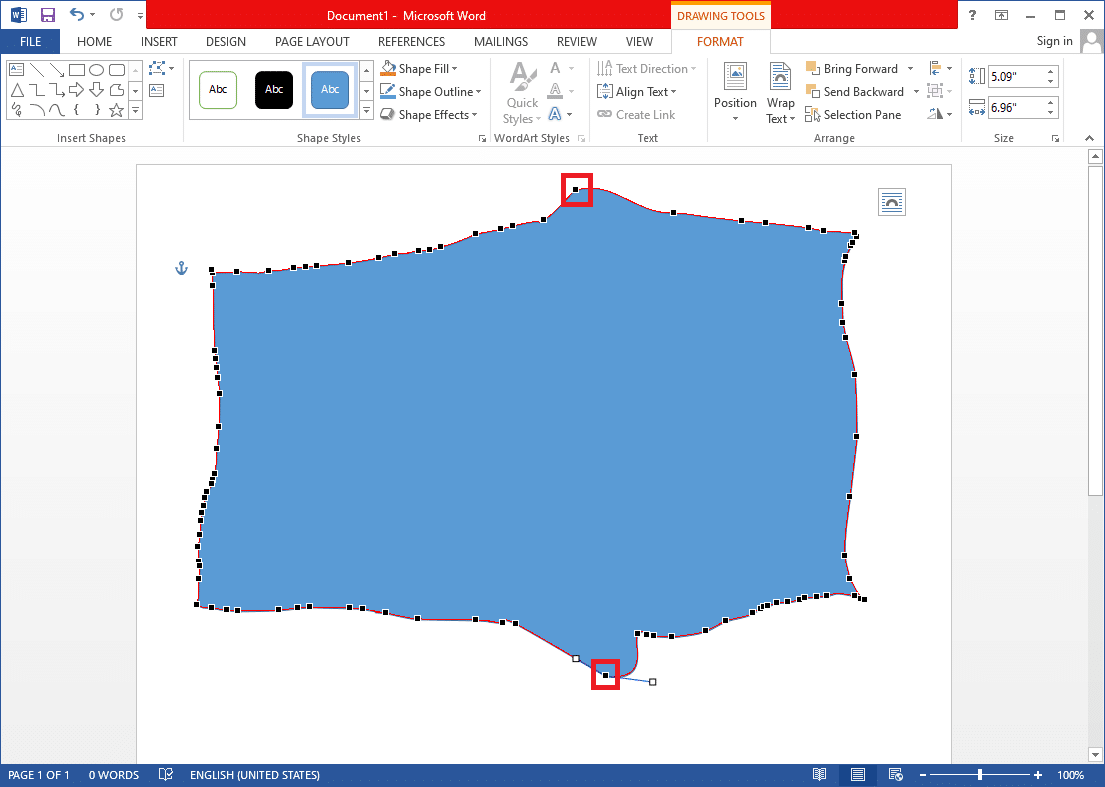 You will now see multiple points along the edges of your diagram.