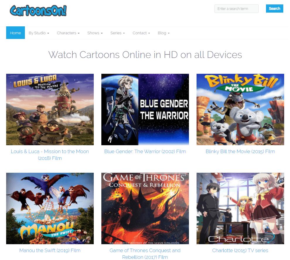 cartoonson   Top 13 websites to view cartoon online