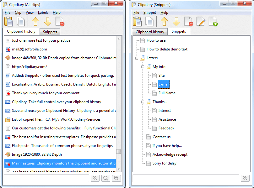 clipdiary   View Clipboard history on Windows