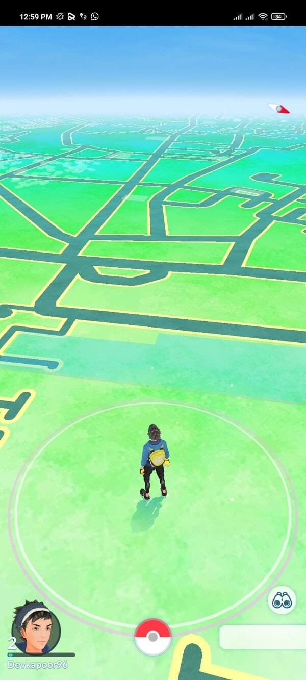 launch the Pokémon Go game and you will see that you are in a different location.