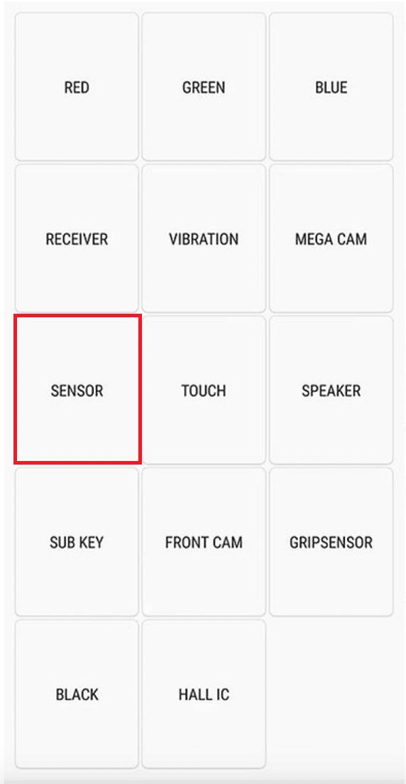 select the Sensor option.   How To Calibrate The Compass On Your Android Phone