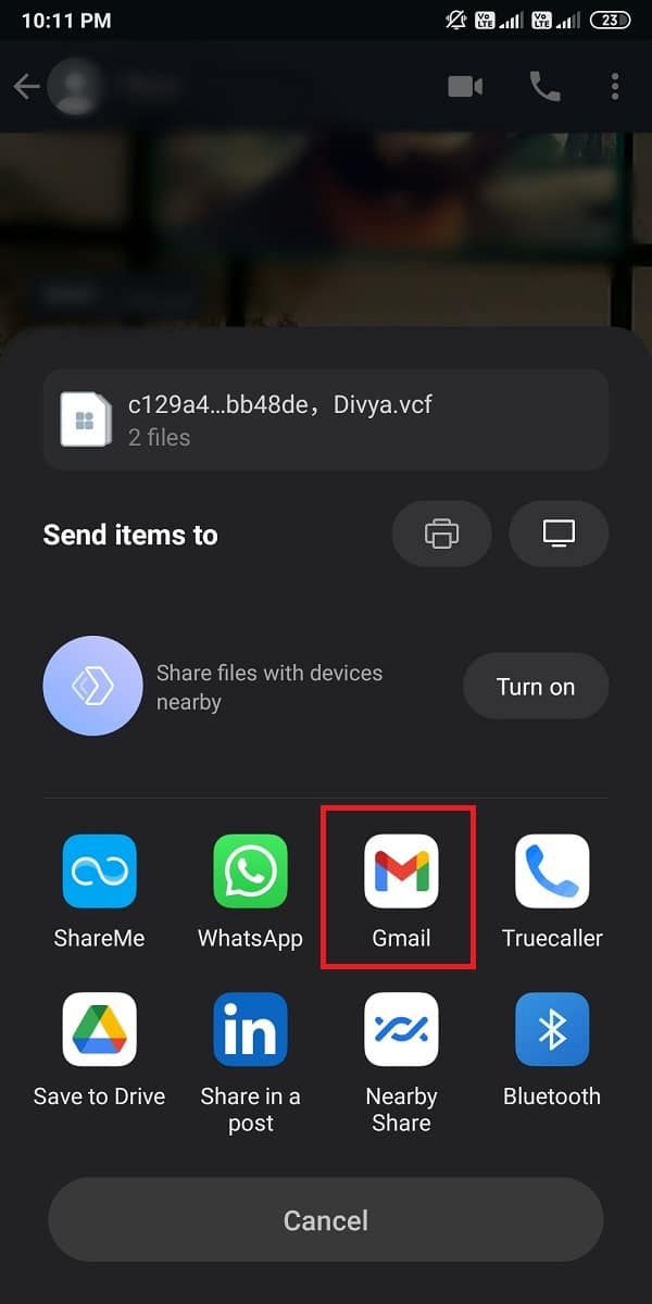 select your mail app from the list of applications that pops up.