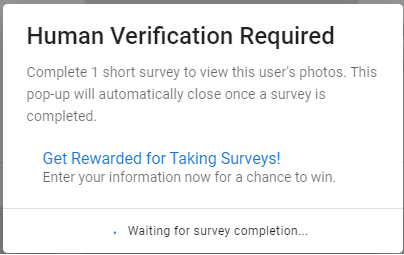 wait for a short survey to complete | View A Private Instagram Account