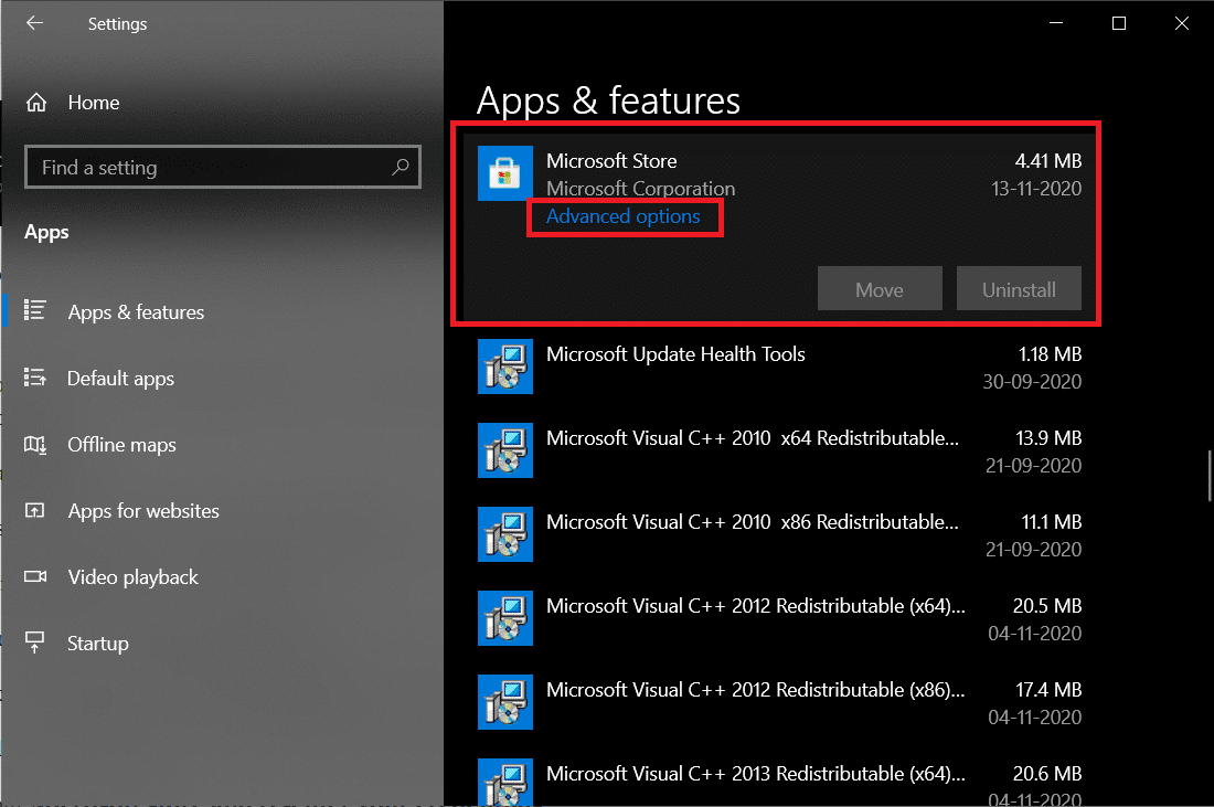 Apps & features Microsoft store Advanced options | How To Fix Microsoft Store Slow Download Issue