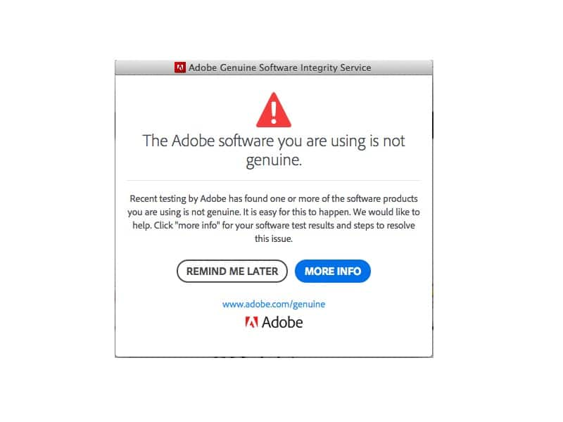 Fix 'Adobe Software You Are Using Is Not Genuine' Error
