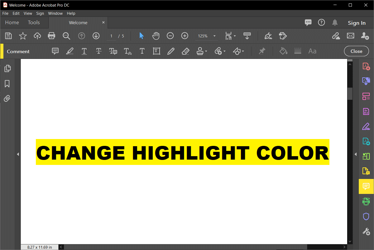 How to Change Highlight Color in Adobe Acrobat Reader