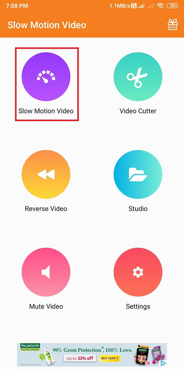Launch the app and tap on 'Slow-motion Video.'