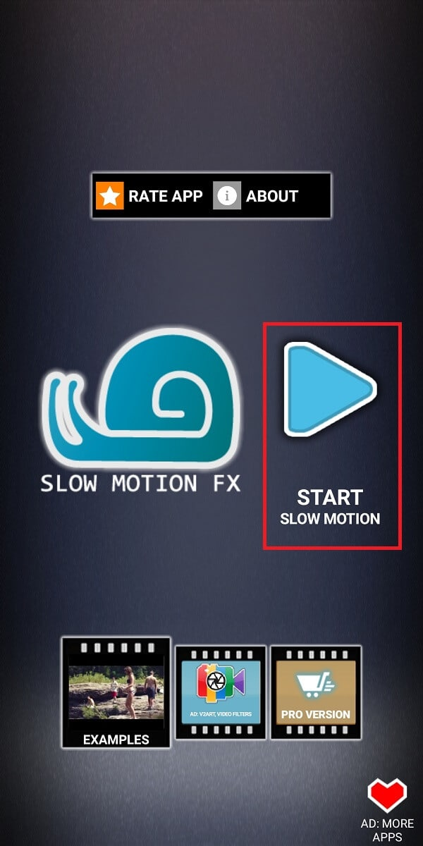 Launch the app on your device and tap on the 'Start slow motion' | How To Record Slow-motion Videos On Any Android Phone?