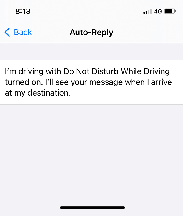 Type whatever message you want your iPhone to auto-reply to incoming calls or messages