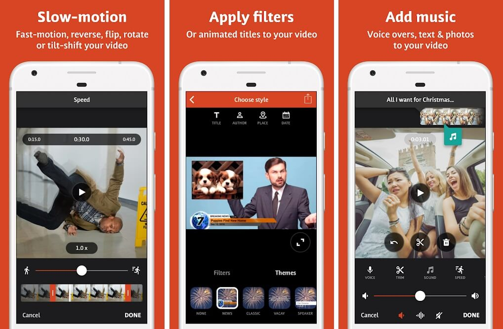 Head to the Google Play Store and install 'Videoshop-Video editor'