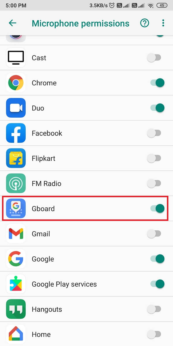 make sure that the toggle is on for 'Gboard.'   Fix Google Assistant Not Working on Android