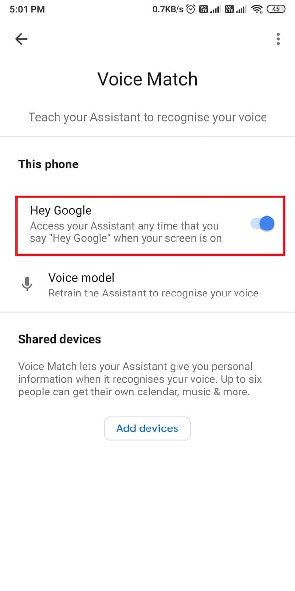 turn off the toggle for 'Hey Google' to turn it off.   Fix Google Assistant Not Working on Android