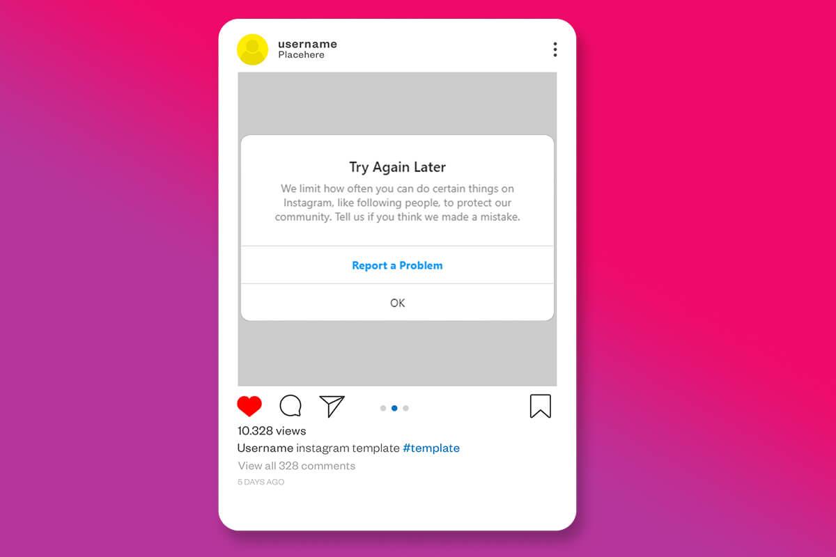 Fix Instagram 'Try Again Later' Error