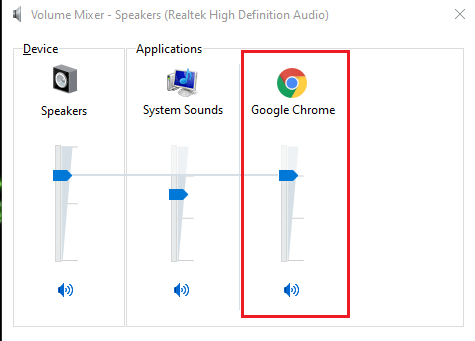 make sure the volume level is not on mute for Google Chrome and the volume slider is set high.