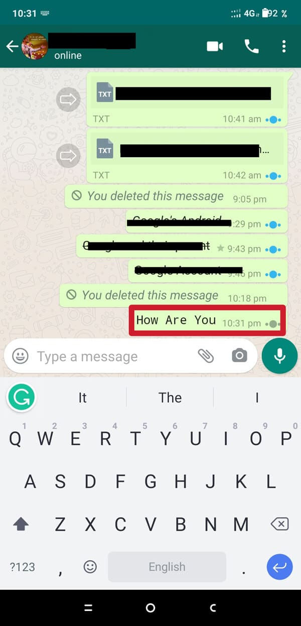 Now send the message, and it will be delivered in a Monospaced format. | How to Change Font Style in WhatsApp