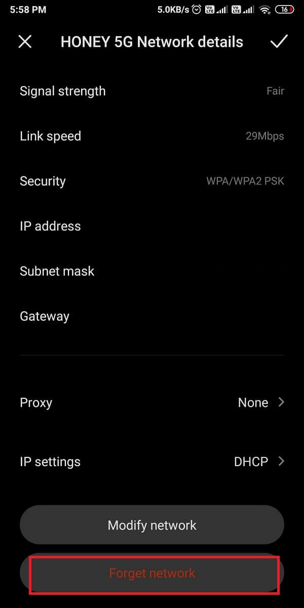 tap on the hotspot network that you wish to connect to and select 'Forget network.'