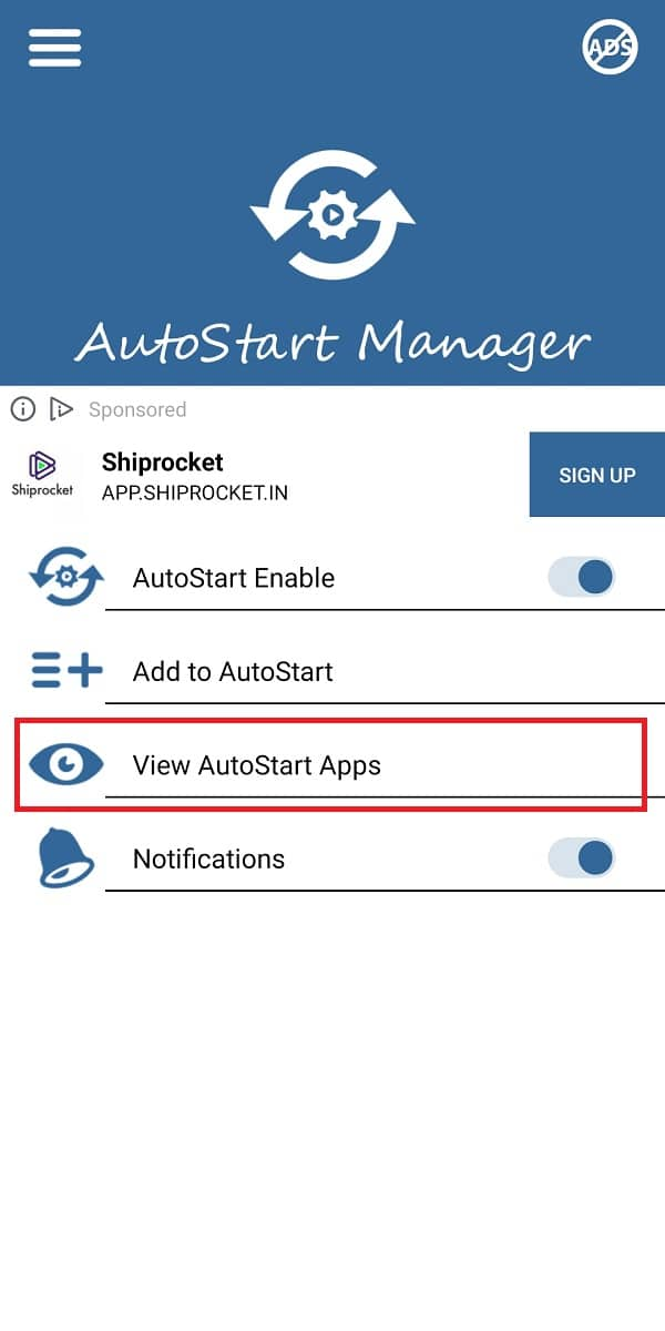 tap on 'view autostart apps' and turn off the toggle next to all the apps that you wish to disable
