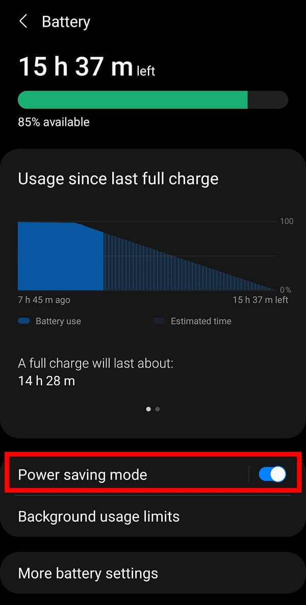 you can observe Power Saving Mode. Make sure to turn it off. | How to fix Snapchat Connection Error