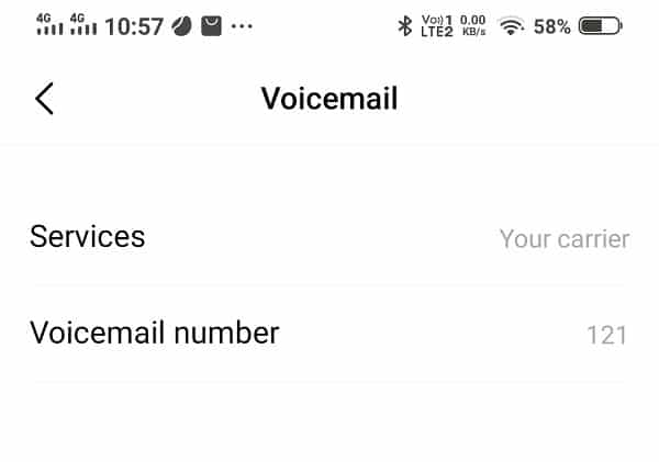 Check and set your voicemail number