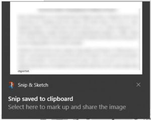 Click on the notification to edit the image | How to Convert Word to JPEG