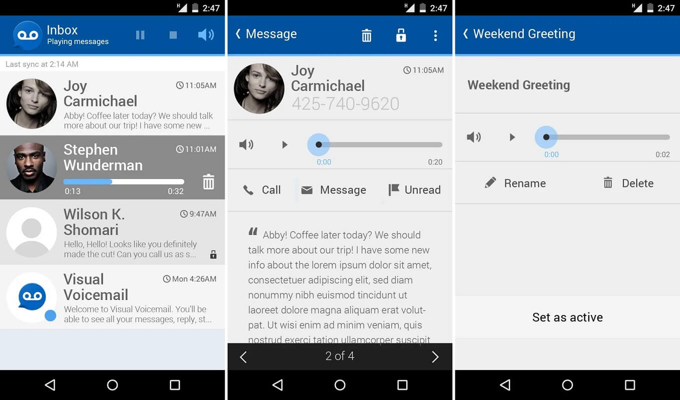Free Visual Voicemail | How to Access your Voicemail Messages on Android phone