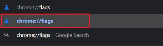 Search for chrome flags