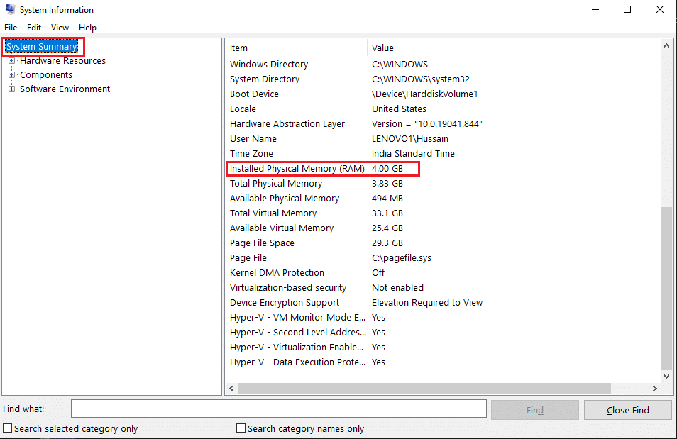 See the Installed physical memory (RAM) on the main panel | How to check RAM Speed, Size, and Type in Windows 10
