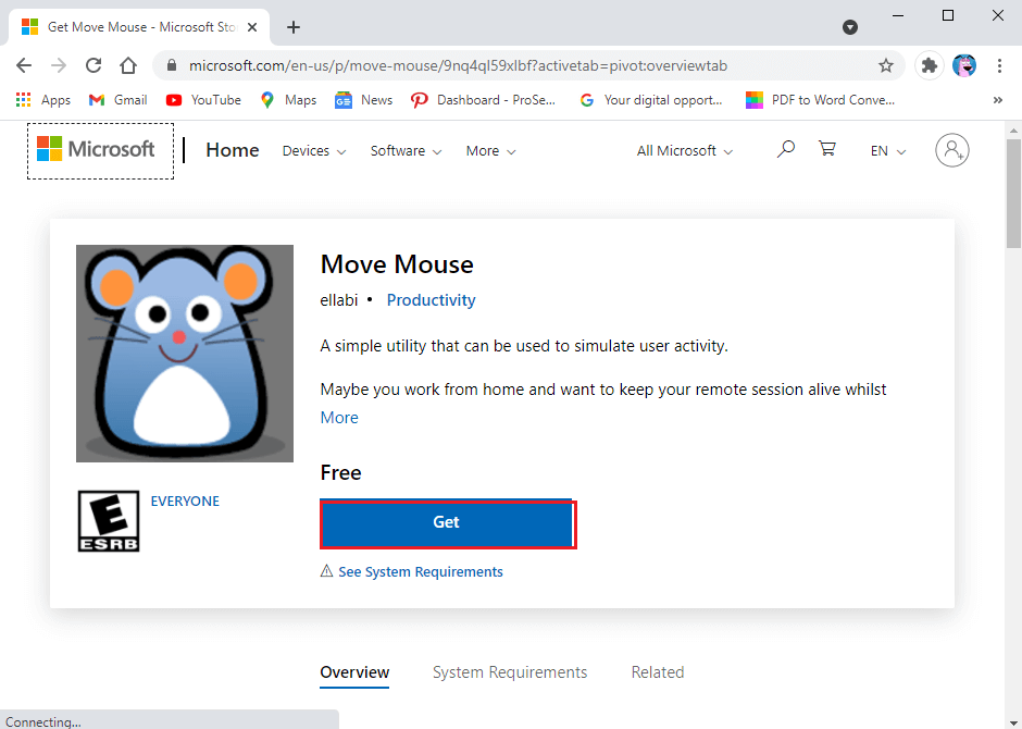 You can use is the move mouse app, which is available on the Windows web store