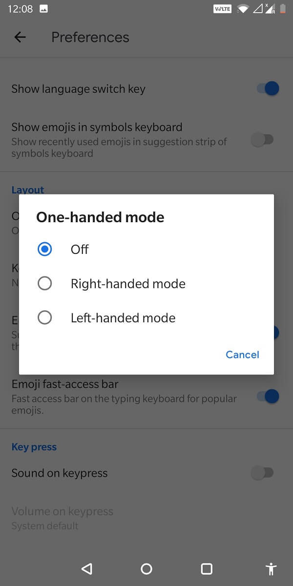 select if it has to left-handed or right-handed.