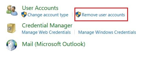 Click on Remove User accounts | What is ASP.NET Machine Account