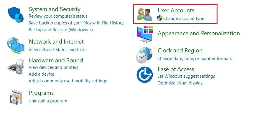 Click on User Accounts | What is ASP.NET Machine Account