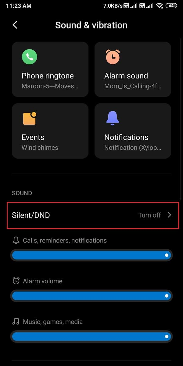 Click on silent/DND | Fix Android phone call goes straight to voicemail