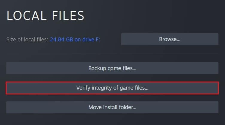 Click on verify integrity of game files | Fix Steam Workshop Not Downloading Mods