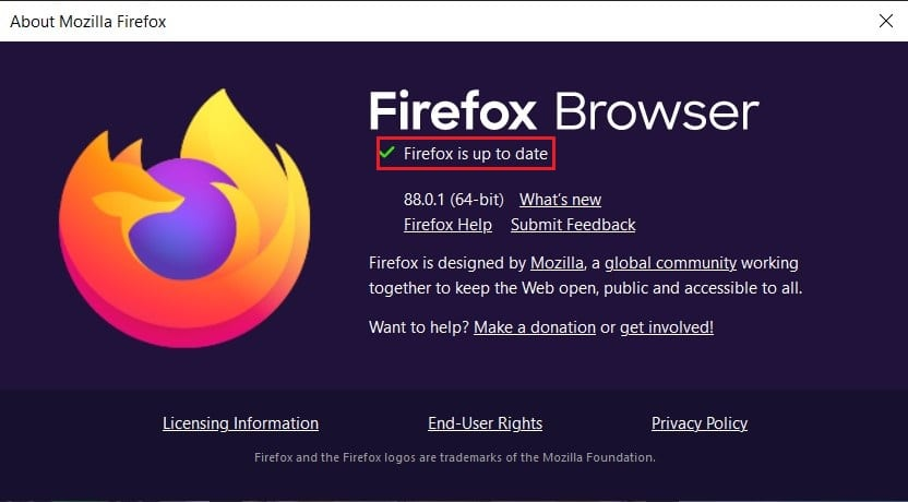 Confirm if your browser is up to date | Fix No Video with Supported Format and MIME type found