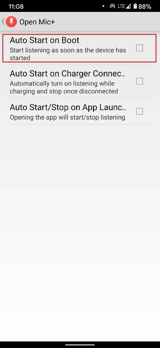 Enable autostart on boot to ensure it runs everytime