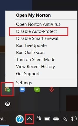 In the task bar, right click on your antivirus and click on disable auto protect | Fix uTorrent Not Responding