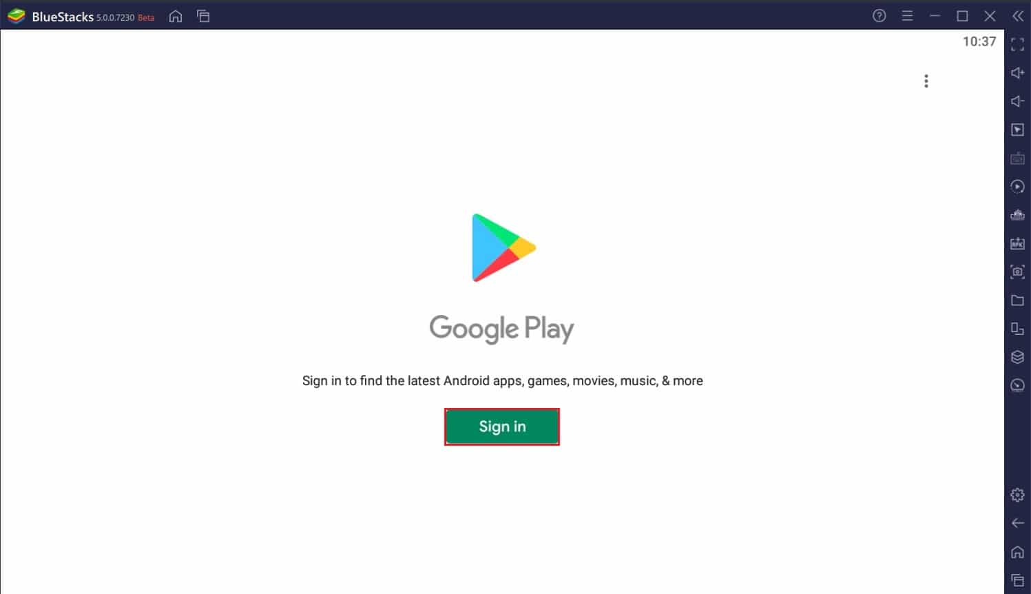 Open the playstore in Bluestacks | How to Use Clubhouse on PC