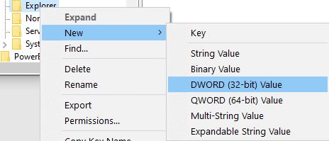Right-click on the Explorer and choose New < DWORD Value   How to Remove desktop.ini File From Your Computer